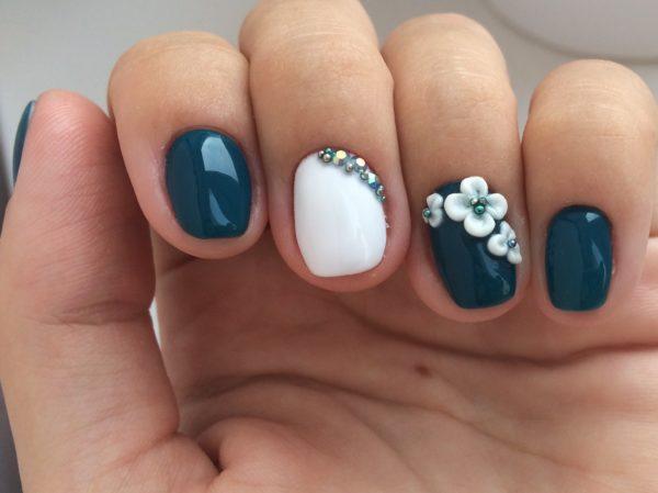 Лепка на ногтях: идеи дизайна, фото
