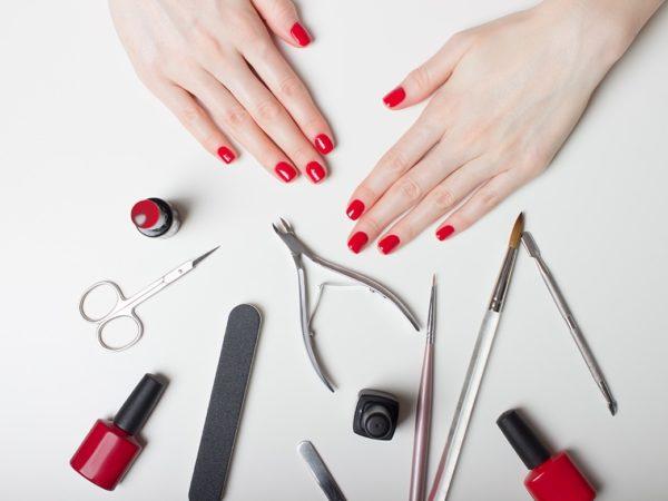 Как сделать квадратную форму ногтей фото