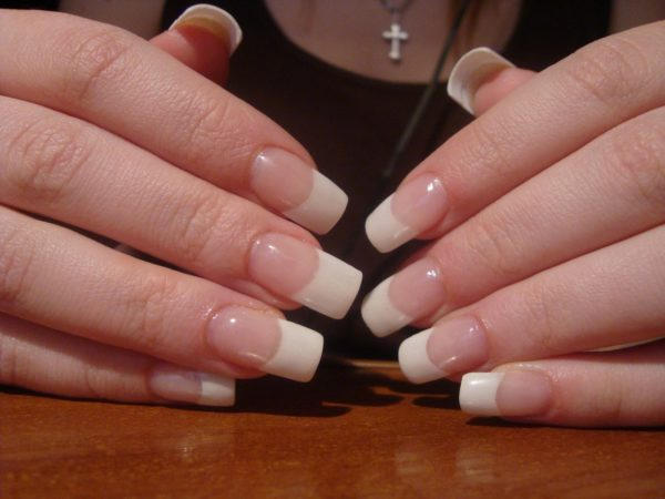 Как сделать квадратную форму ногтей