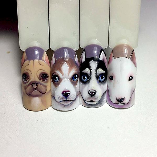 маникюр собака