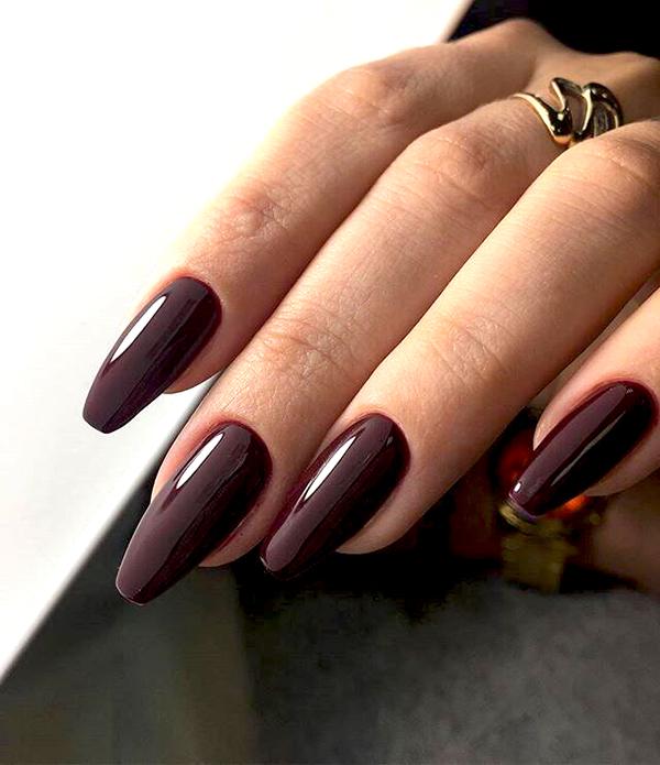 однотанные ногти