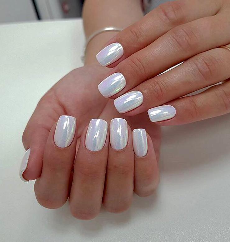 металлические ногти втирка