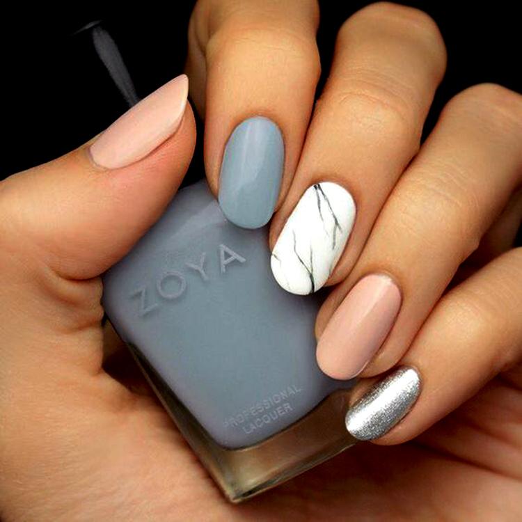 пастельные ногти под тип кожи