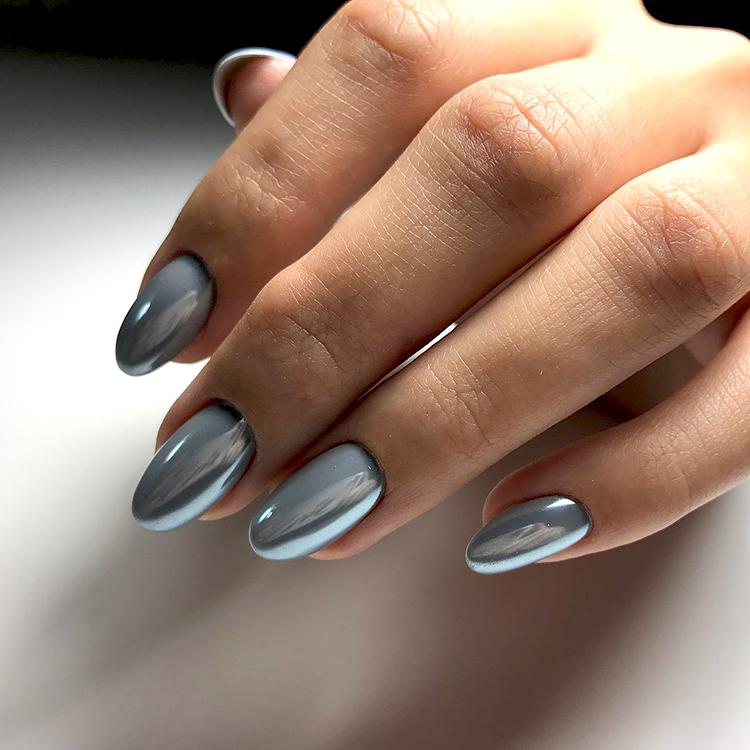втирка эффект металлических ногтей